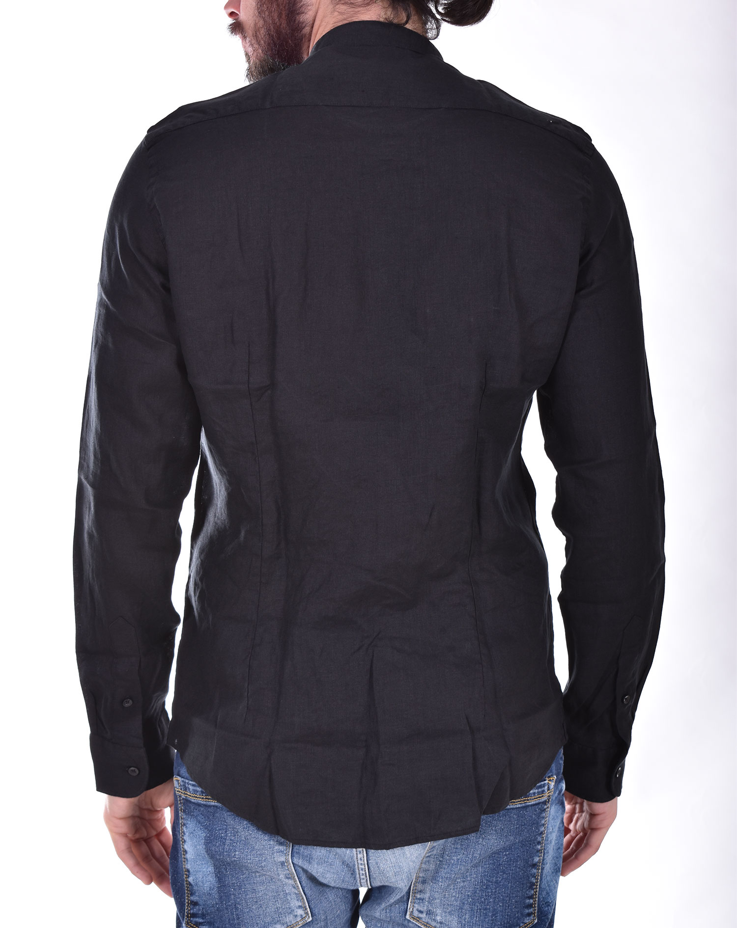 Outfit Italy korea black linen shirt OUTFIT ITALY | T00C006101