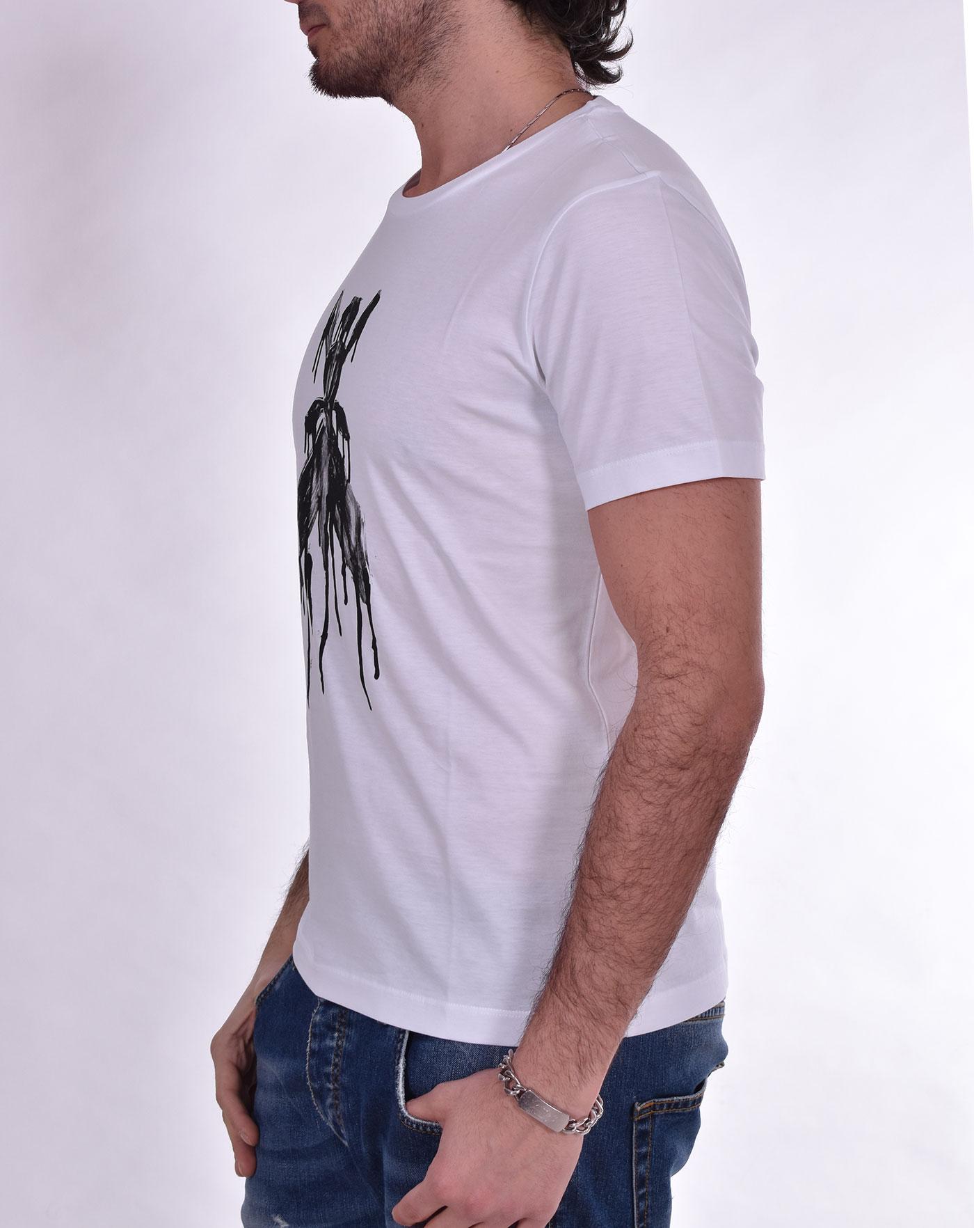 T shirt Patrizia Pepe bianca stampa PATRIZIA PEPE   5M1304W103