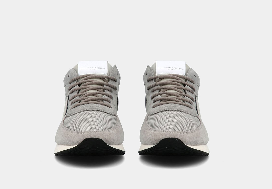 Sneakers Philippe Model Tropez mondial gris PHILIPPE MODEL | TZLUW058