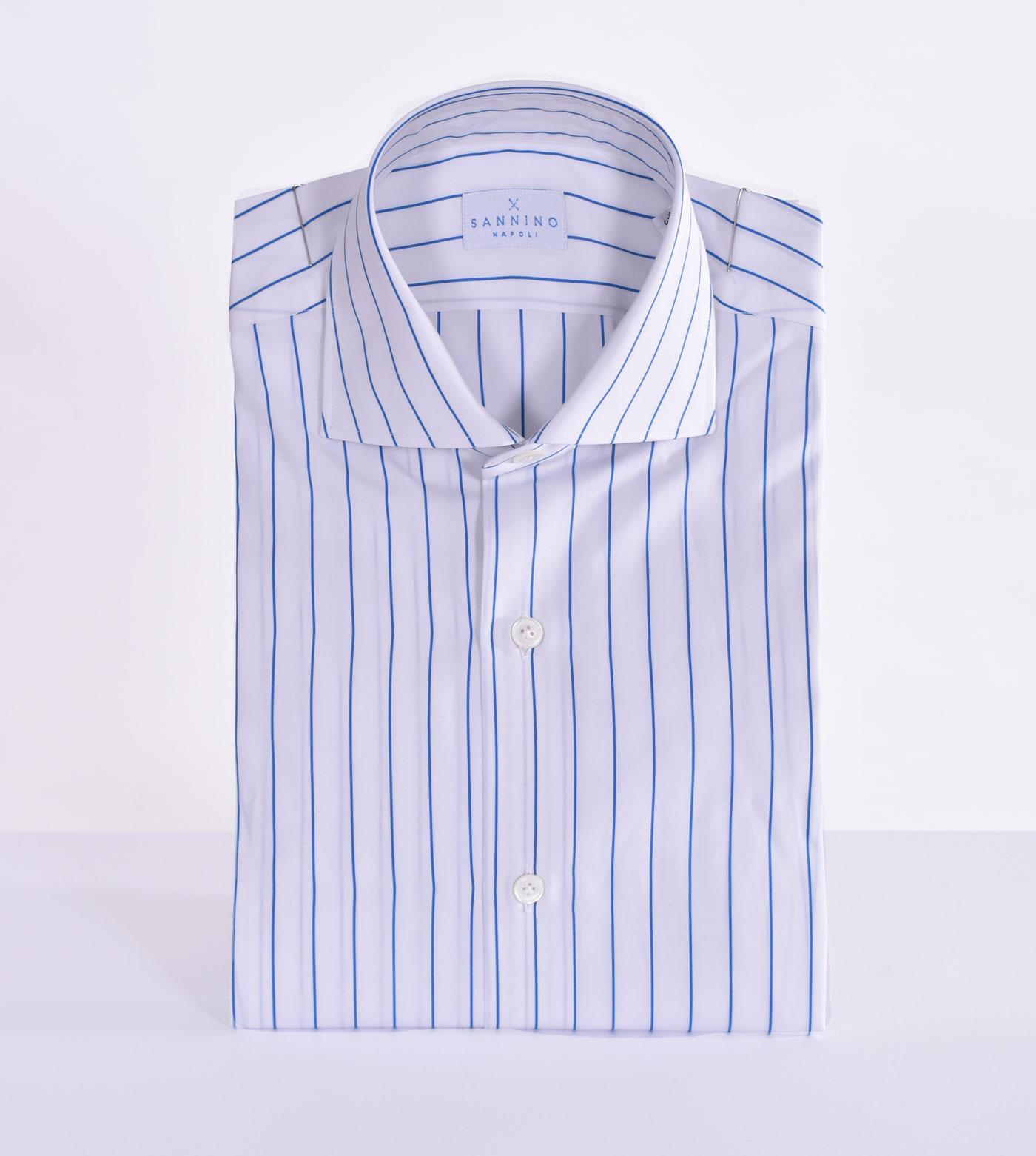 Sannino striped white blue shirt SANNINO | A56701