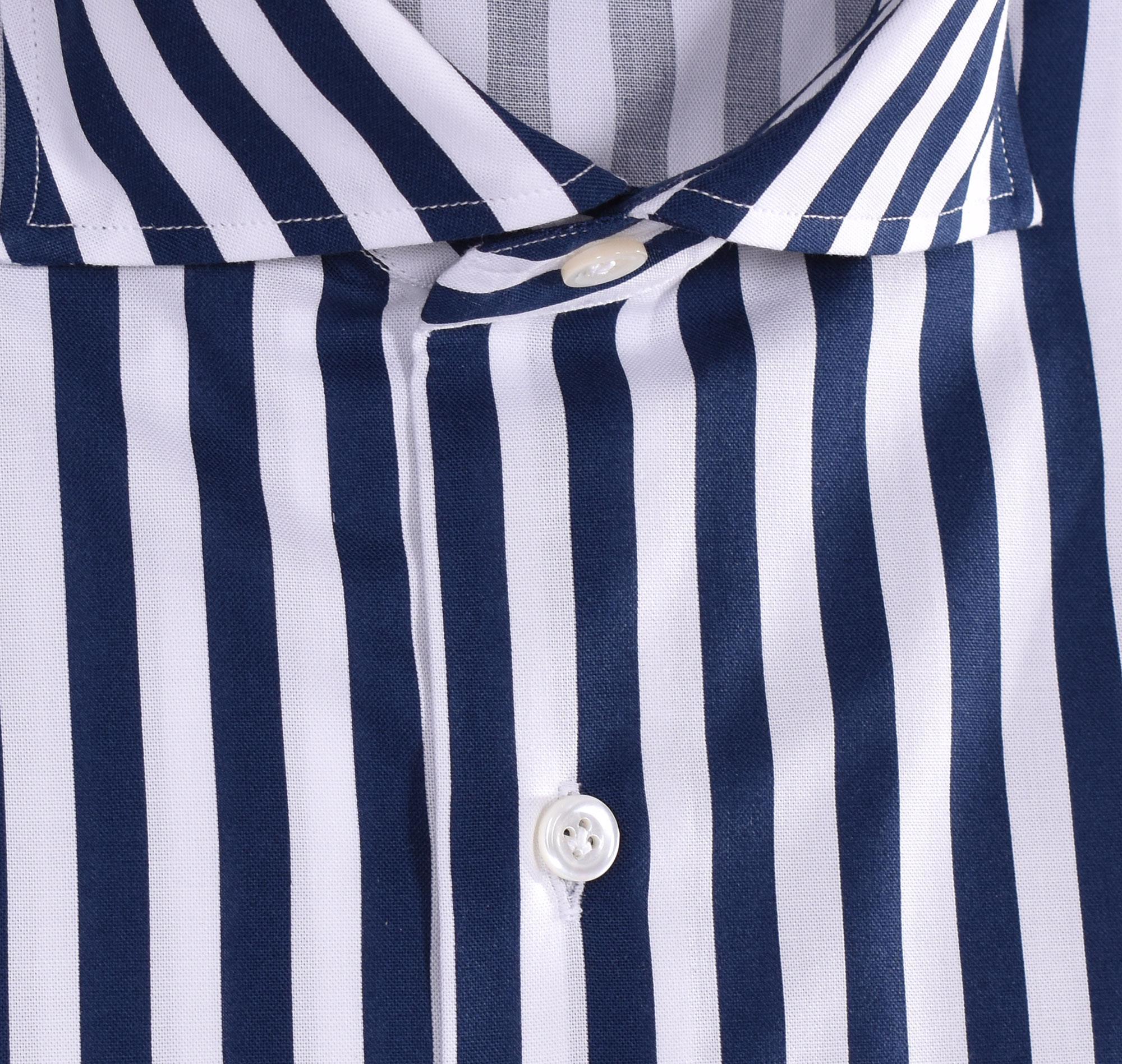 Sannino striped dark blue and white shirt SANNINO | M21501