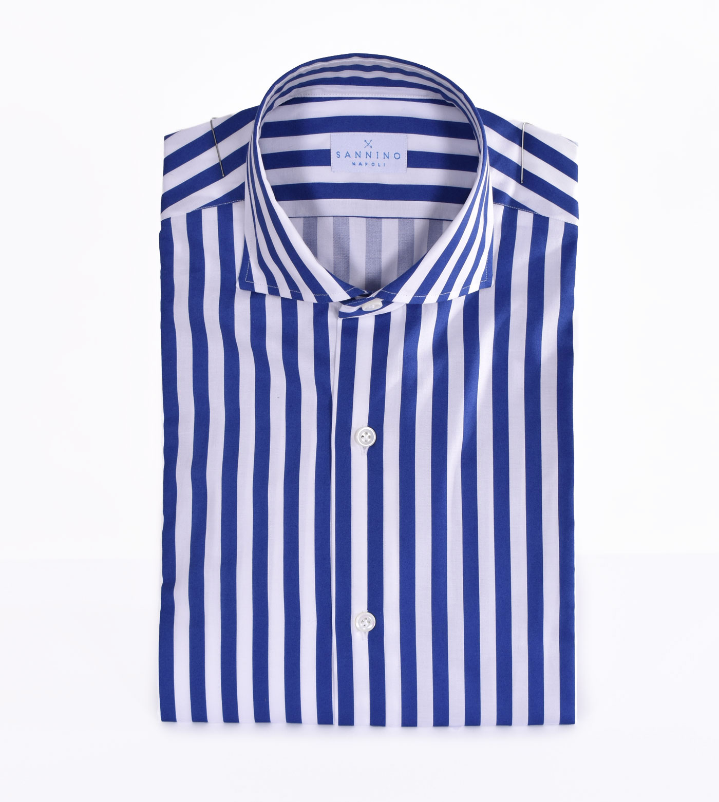 Royal blue striped Sannino shirt SANNINO | M21502