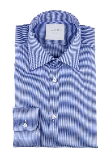 Aglini Mario men's shirt blue AGLINI | Shirts | AMARIO127