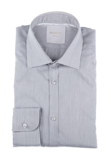 Man Aglini Mario micro-pattern shirt AGLINI | Shirts | AMARIO128