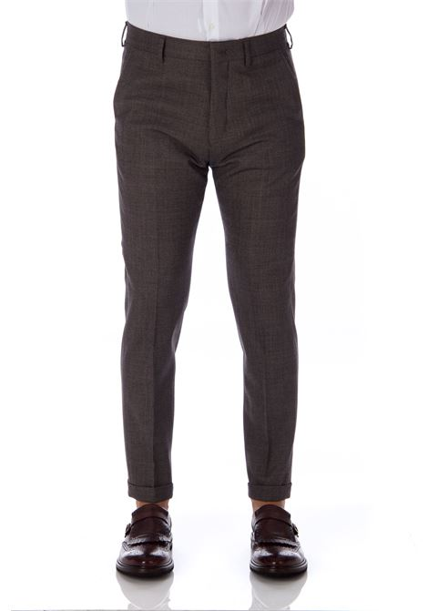 Brown Be Able trousers for men with lapels BE ABLE | Trousers | 24866278
