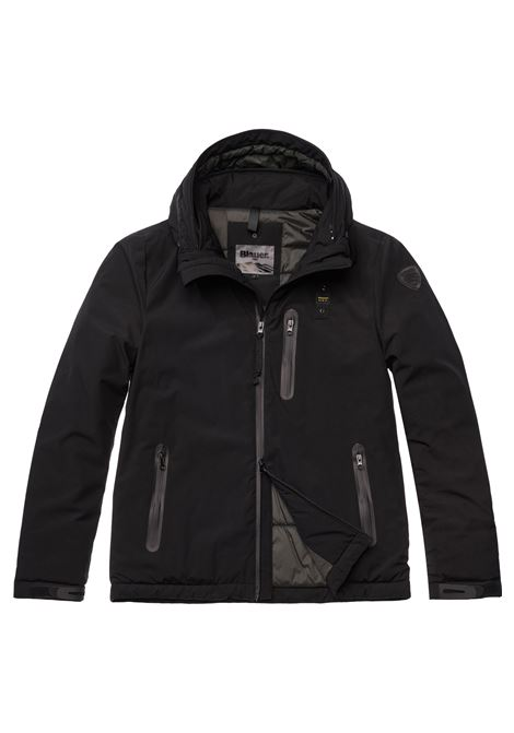 Black Blauer padded jacket men BLAUER | Jackets | 19WBLUC02099999