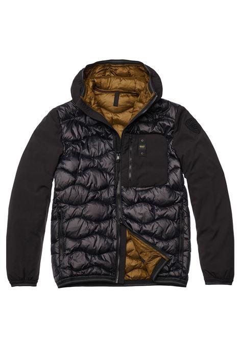 Black Blauer double fabric jacket men BLAUER | Jackets | 19WBLUC08074999