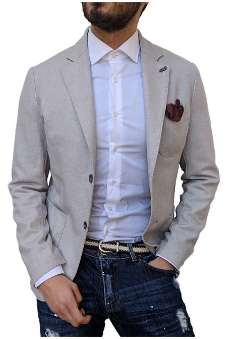 Bob slim dove gray blazer for man BOB | Blazers | DOMI T1122