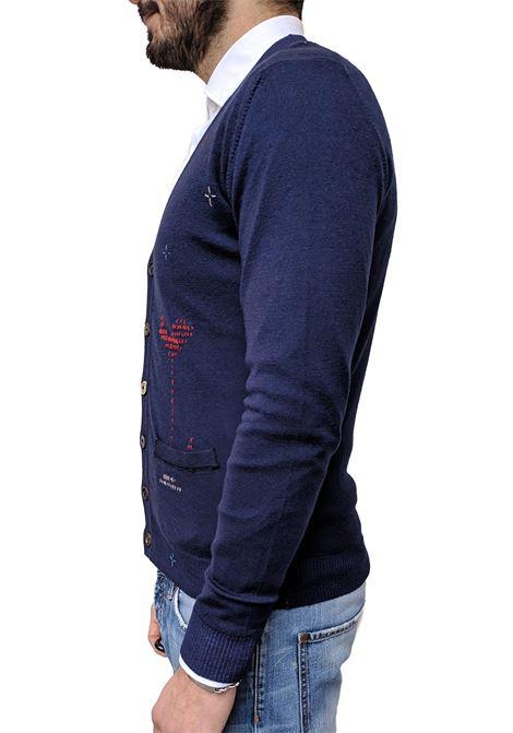 Cardigan Bob mendoza lana blu BOB | Cardigan | MENDZA1