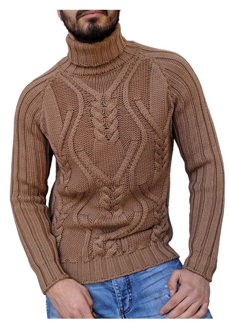 Brian Dales men's sweater turtle neck beige BRIAN DALES | Sweaters | M1628KN285202