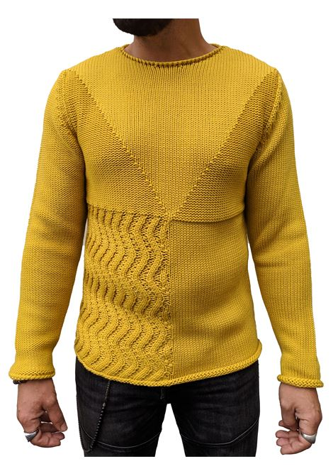Brian Dales men's shirt cut alive mustard BRIAN DALES | Sweaters | M1651 KN286002