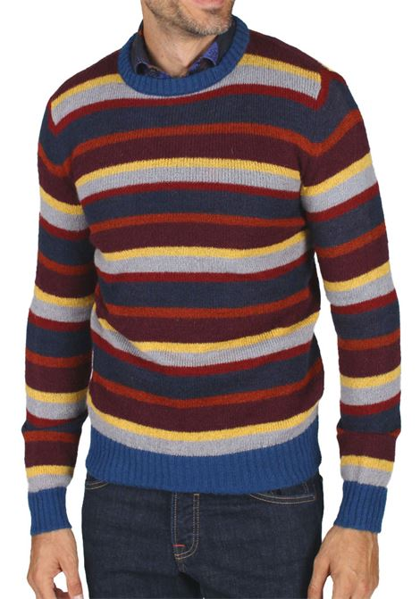 Brian Dales men's sweater multicolor stripes BRIAN DALES | Sweaters | MKN28641657001