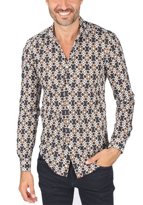 Brian Dales man shirt with diamond pattern BRIAN DALES | Shirts | ST7885 BS53W03