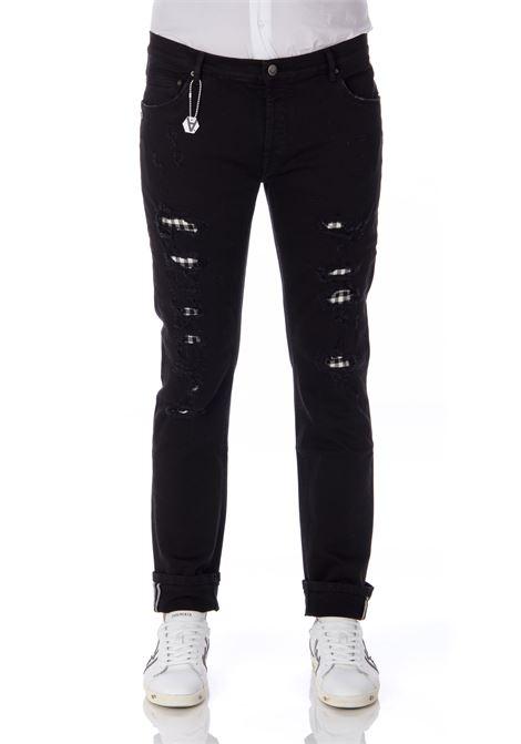 Daniele Alessandrini black ripped men's jeans DANIELE ALESSANDRINI | Jeans | PJ4610NTL75039351