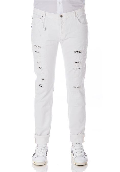 Daniele Alessandrini white ripped men's jeans DANIELE ALESSANDRINI | Jeans | PJ4610NTL75039352