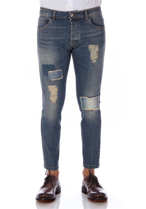 Men's Entre Amis slim fit sandblasted jeans ENTRE AMIS | Jeans | A208177/206L5361