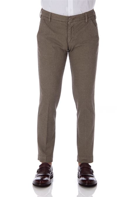 Entre Amis micro pattern trousers man taupe ENTRE AMIS | Trousers | A20818/17881