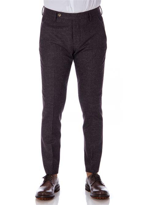 Burgundy men's Entre Amis wool trousers ENTRE AMIS | Trousers | A208345/18312