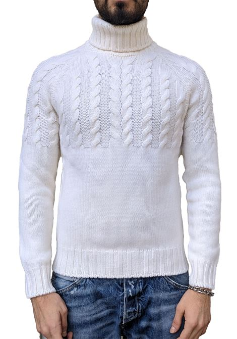 Turtleneck Gran Sasso man air wool white braids GRAN SASSO | Sweaters | 10124/22643005