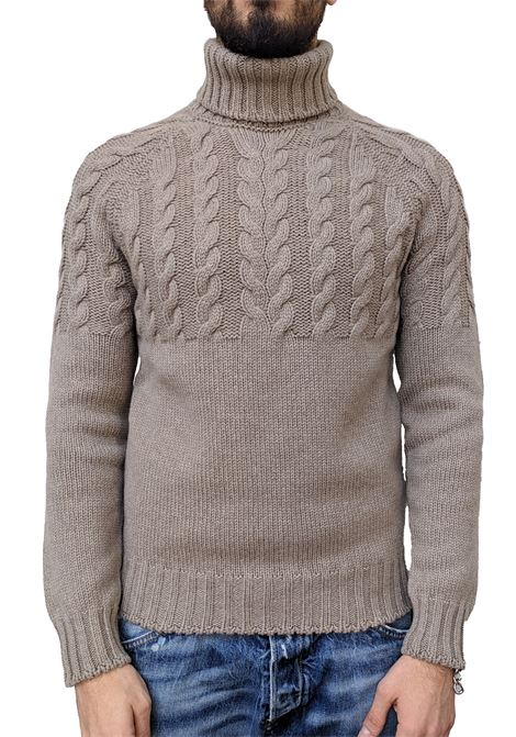 Men's high-neck sweater Gran Sasso air wool beige GRAN SASSO | Sweaters | 10124/22643030