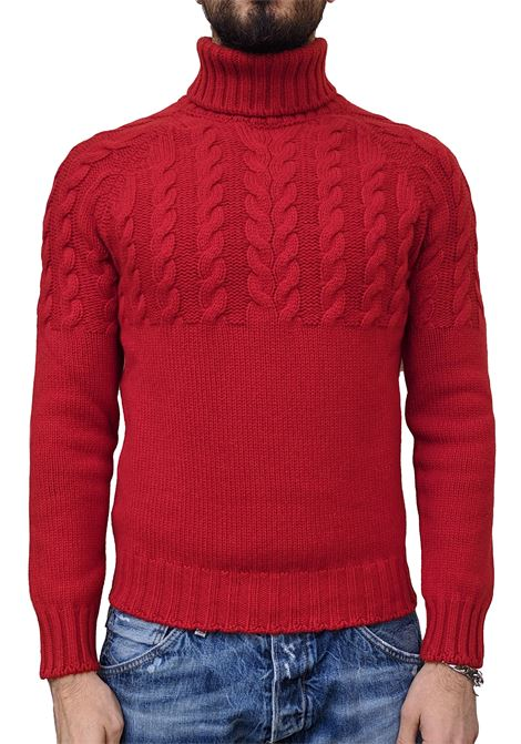 Turtleneck Gran Sasso air wool red braids GRAN SASSO | Sweaters | 10124/22643240