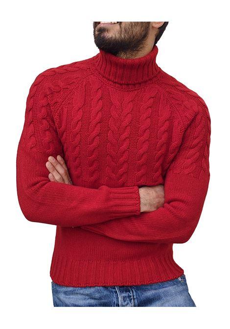 Dolcevita Gran Sasso air wool rosso trecce GRAN SASSO | Maglie | 10124/22643240