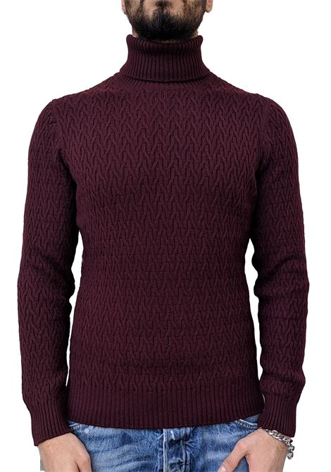 Gran Sasso sweater air wool bordeaux high collar GRAN SASSO | Sweaters | 23126/22636290