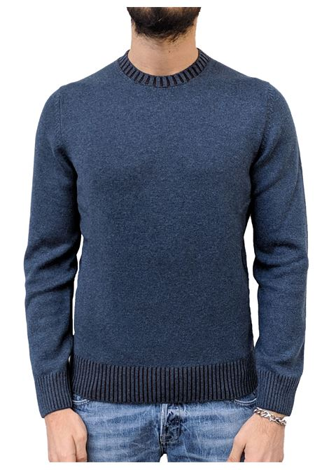 Gran Sasso men's cashmere blue wool sweater GRAN SASSO | Sweaters | 23155/19613219