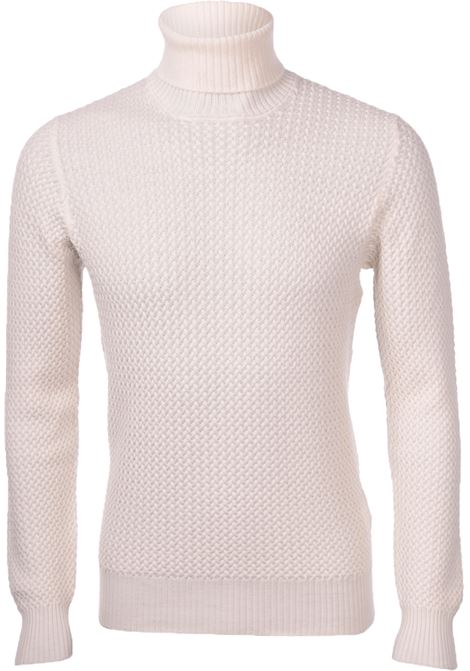 Turtleneck Gran Sasso for men white braids GRAN SASSO | Sweaters | 57157/14280005