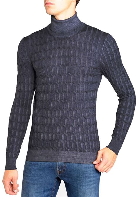 Turtleneck Gran Sasso man vintage braids GRAN SASSO | Sweaters | 57192/22735914