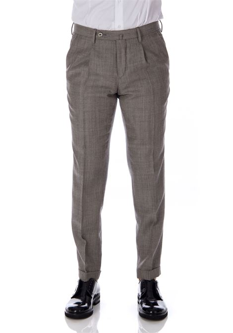 GTA Pantalone trousers men's gray wool GTA | Trousers | 17836850