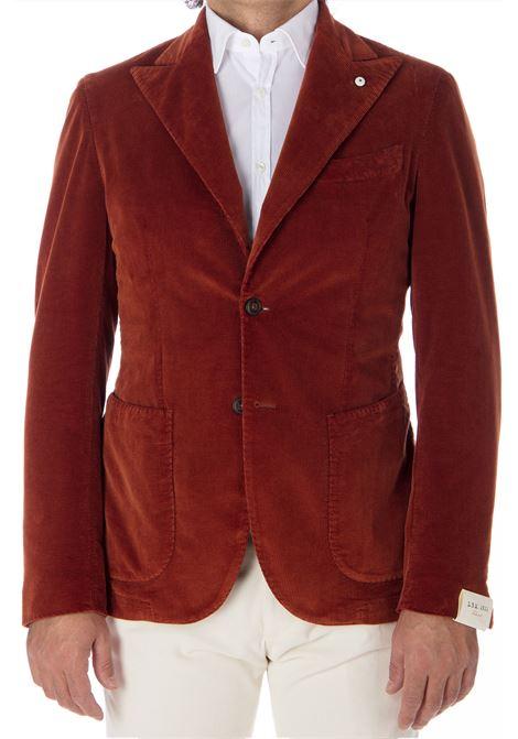 Blazer L.B.M. 1911 velvet rust man L.B.M. 1911 by Lubiam   Suit Jackets   95114/8 28548