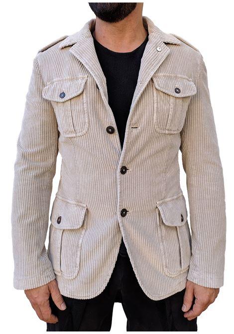 L.B.M. 1911 blazer Sahara beige velvet L.B.M. 1911 by Lubiam   Suit Jackets   95120 28021
