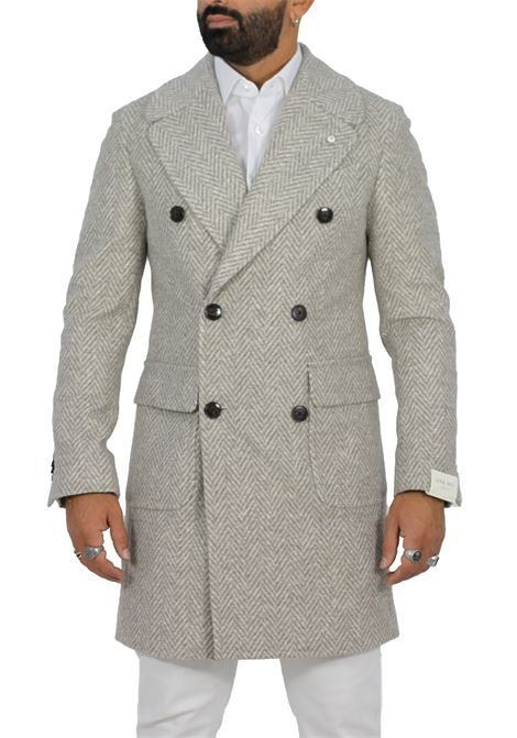 L.B.M. 1911 coat double-breasted beige men L.B.M. 1911 by Lubiam | Coats | 95196/1 74521