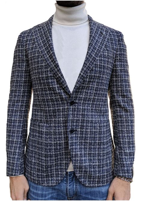 Lubiam blazer men blue wool square LUBIAM | Suit Jackets | 92045/2 21402