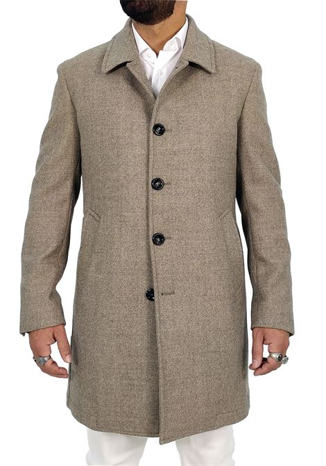 Luigi Bianchi Mantova beige men coat Luigi Bianchi Mantova by Lubiam | Coats | 97023 739505