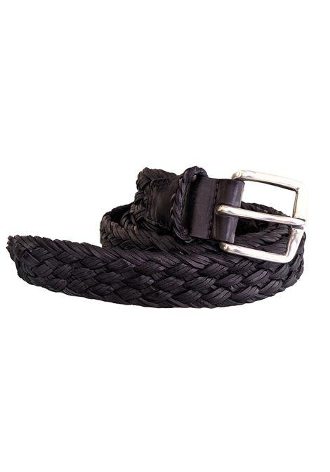 Cintura Orciani uomo intrecciata nera ORCIANI | Cinture | U077381