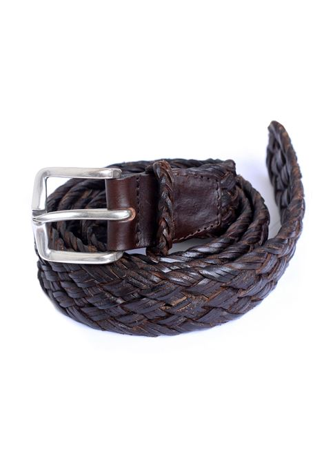 Brown Orciani men braided belt ORCIANI | Belts | U077382