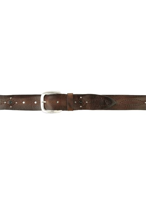 Men brown wax leather belts signed ORCIANI | Belts | U077811