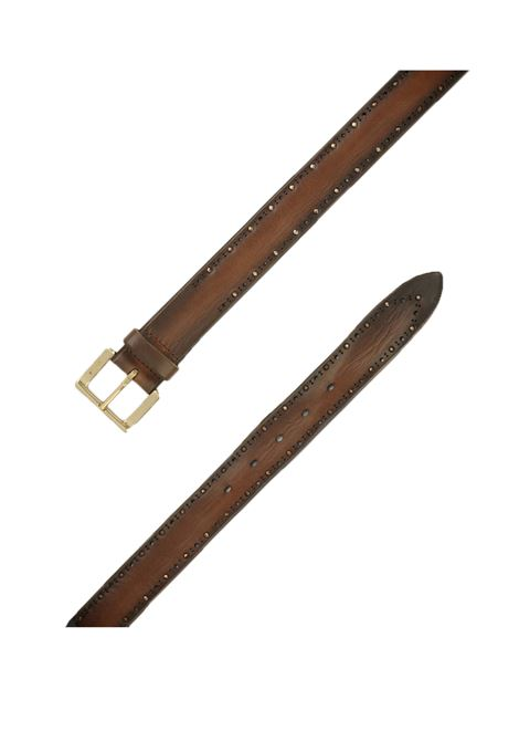 Orciani belt in dark brown leather for men ORCIANI | Belts | U078551