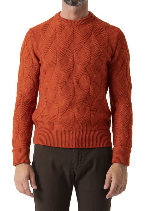 Paolo Pecora orange crew neck sweater for men PAOLO PECORA | Sweaters | A063-70123413
