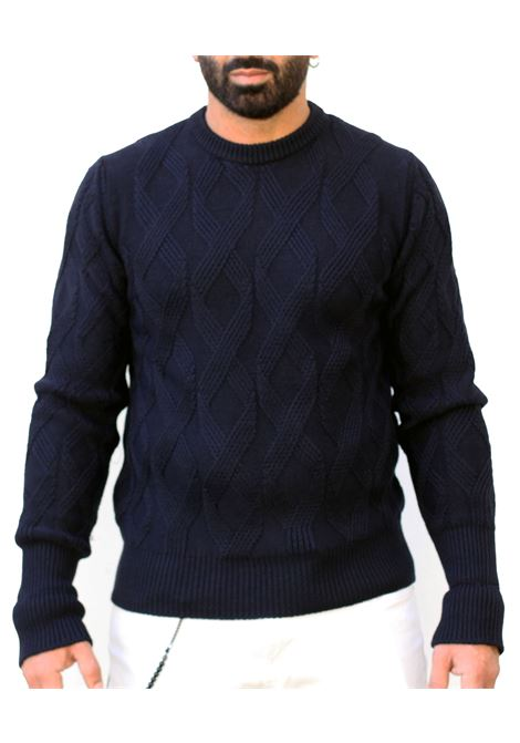 Paolo Pecora men's crew neck sweater, blue PAOLO PECORA | Sweaters | A063-70126728