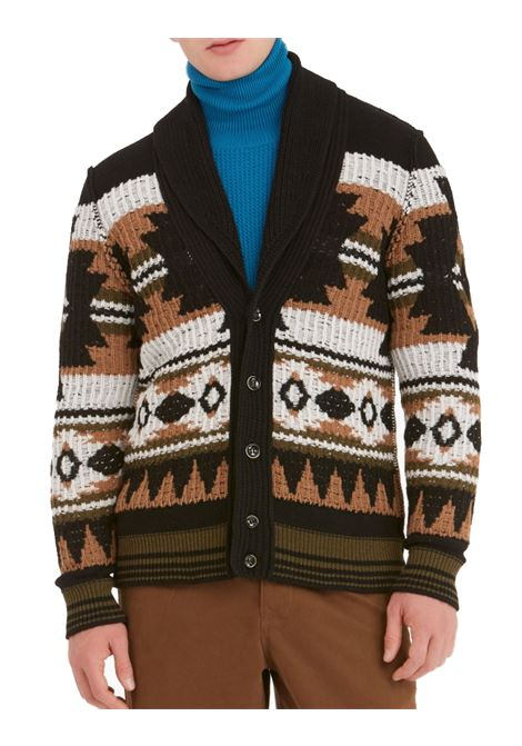 Cardigan Paolo Pecora jacquared wool men PAOLO PECORA | Cardigans | A085-70560002