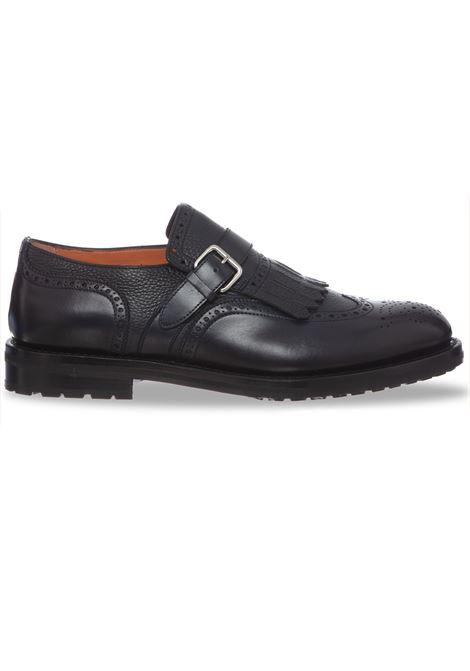 Blue shoes with fringe and men's buckle SANTONI | Shoes | 13976U59