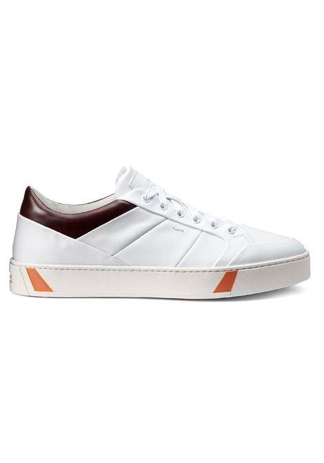 Santoni white leather men's sneakers SANTONI | Shoes | 21142M50