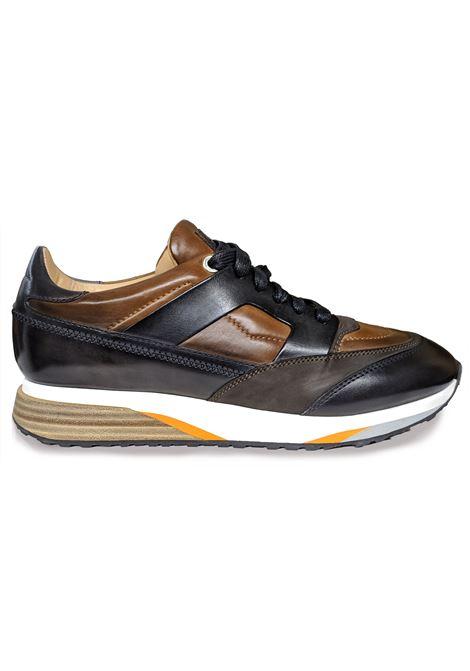 Santoni shoes men's leather sneakers SANTONI | Shoes | 21167M50