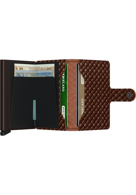 Secrid miniwallet basket brown SECRID | Portafogli | BASKET1