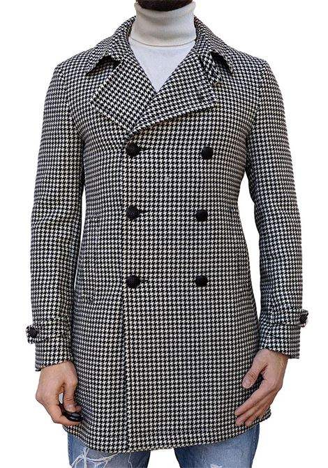 Tagliatore Charlie double-breasted houndstooth coat TAGLIATORE | Coats | 12FIC248N3034