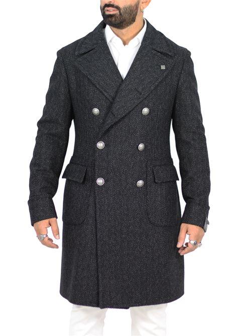 Double-breasted Tagliatore men herringbone coat TAGLIATORE | Coats | 34SIC240S31411