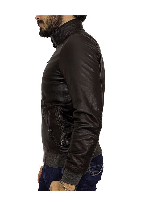 D'amico dark brown raynold leather jacket ANDREA D'AMICO | Jackets | DGU0369497